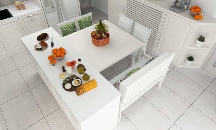 Pebbledesign / Çakıltașları Mimarlık Tasarım – Yaman Residential:  tarz Mutfak üniteleri