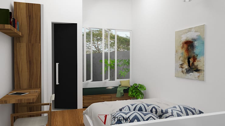 Interior Master Bedroom:   by Tigha Atelier