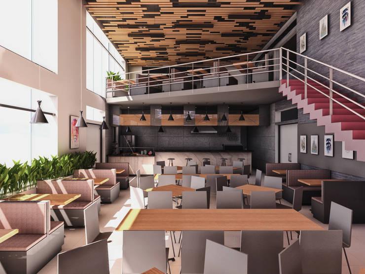 CAFETERIA UPT – TACNA: Tiendas y espacios comerciales de estilo  por TECTONICA STUDIO SAC