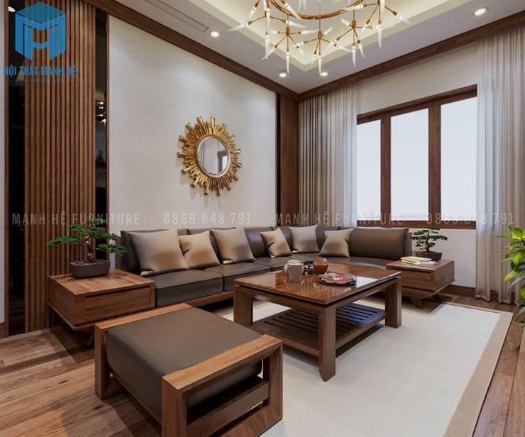 Phòng khách sang trọng và hiện đại:  Phòng khách by Công ty TNHH Nội Thất Mạnh Hệ