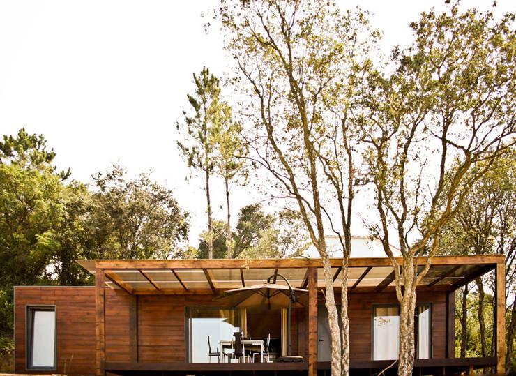 Bungalow Wood Alcobaça - Exterior - 1: Bungalows  por goodmood - Soluções de Habitação