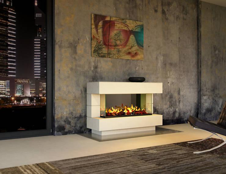 London Elektrokamin:  Wohnzimmer von muenkel design