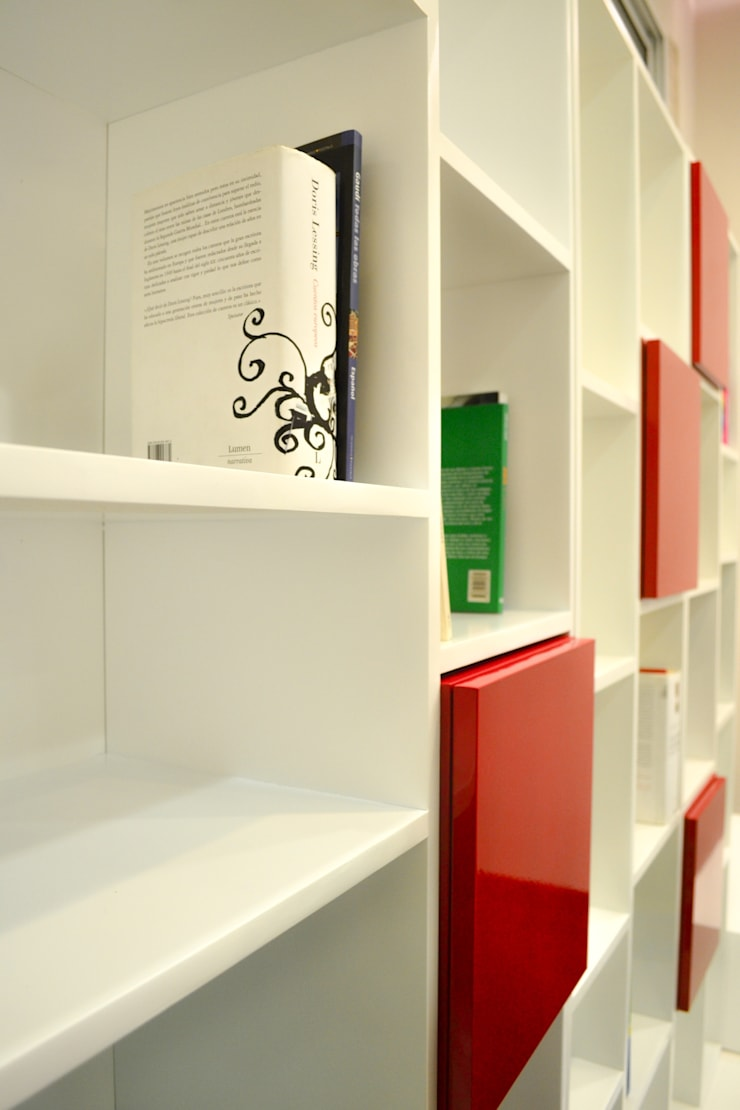 Biblioteca Coquette Modular: Livings de estilo  por Sibonia