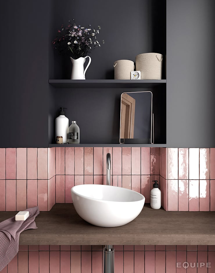 Phòng tắm theo Equipe Ceramicas, Địa Trung Hải gốm sứ
