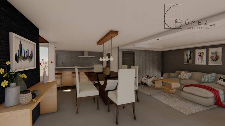 Salas de jantar  por GóMEZ arquitectos