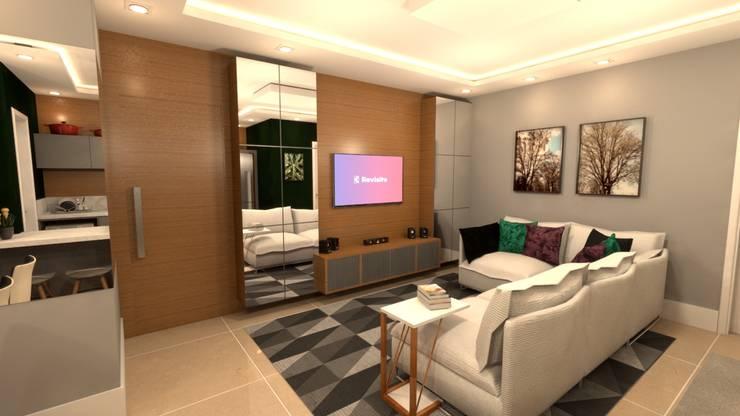 Sala de estar ampla: Salas de estar  por Revisite
