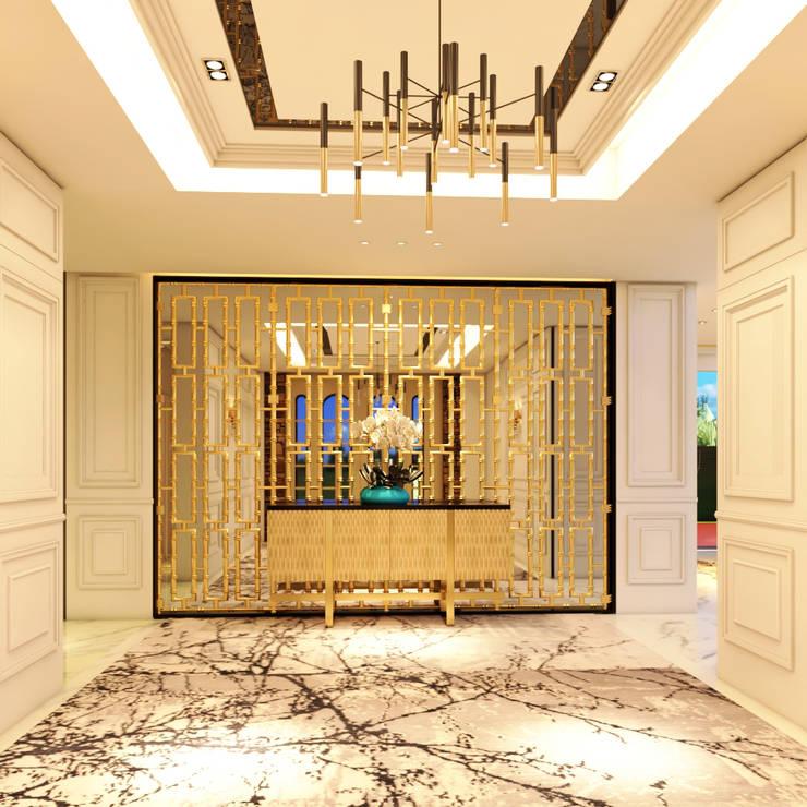 Luxury Bungalow:  Corridor & hallway by Norm designhaus