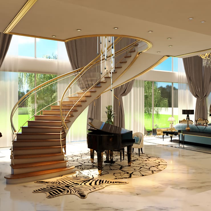 Luxury Bungalow:  Stairs by Norm designhaus