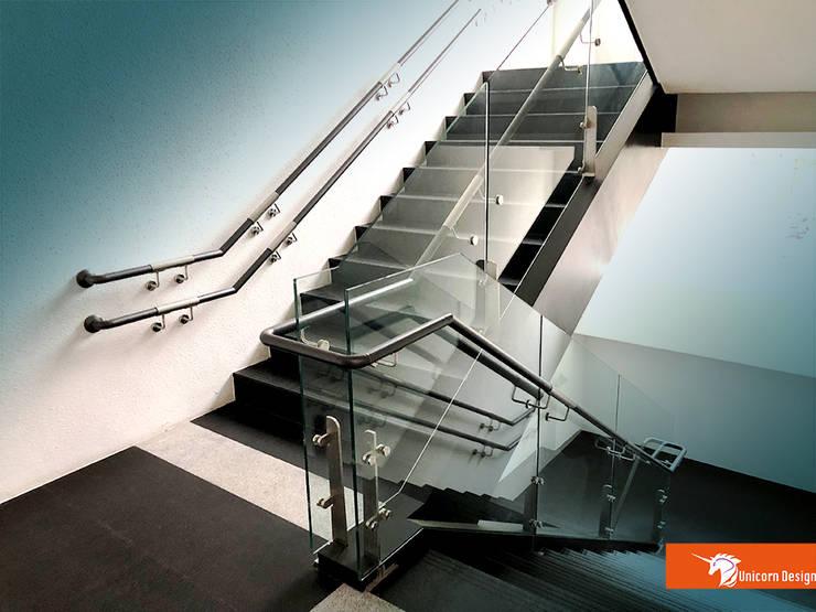 無障礙樓梯:  商業空間 by Unicorn Design