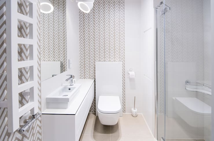 Wakacje w Mikołowie: styl , w kategorii Łazienka zaprojektowany przez conceptjoana,