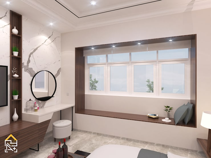 Masterbedroom - Window Bench View:   by JRY Atelier