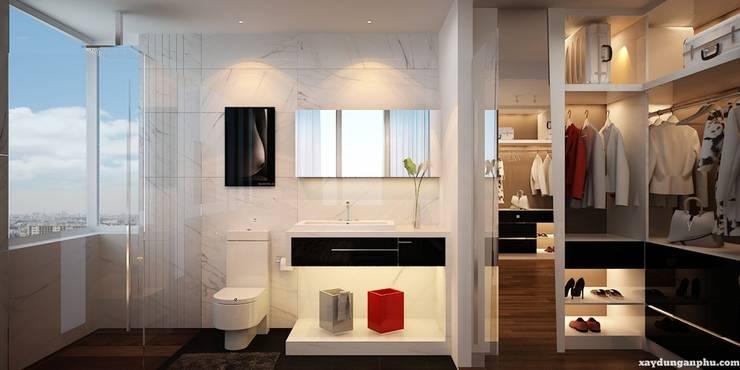 Thông tin chi tiết về dự án thiết kế căn hộ chị Diệp dự án Masteri Thảo Điền:  Office spaces & stores  by TNHH xây dựng và thiết kế nội thất AN PHÚ CONs 0911.120.739