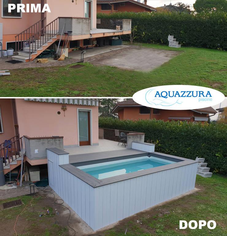 La piscina fuori terra rivestita in legno o wpc arreda il for Terra per giardino