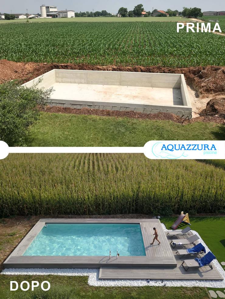 La piscina fuori terra rivestita in legno o wpc arreda il tuo ...