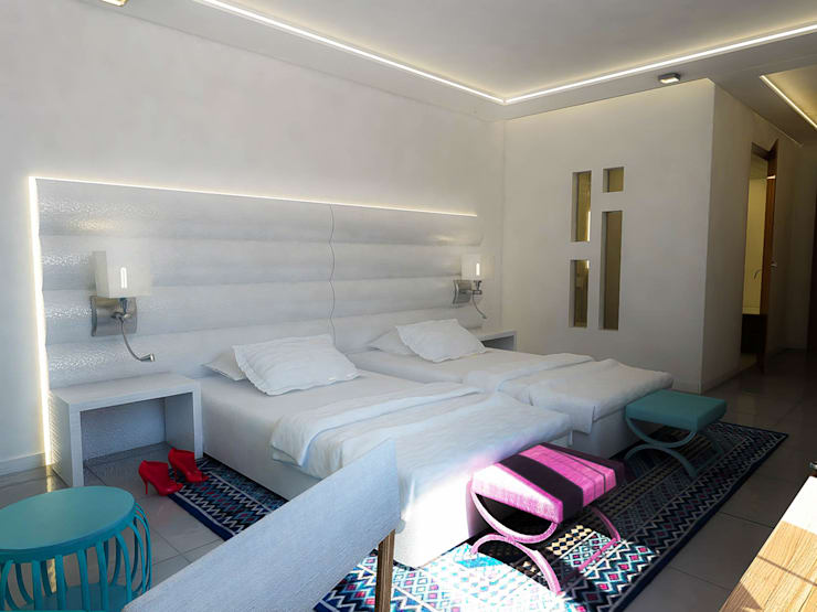 Bedroom design:  Small bedroom by ARCHI-SERVICE