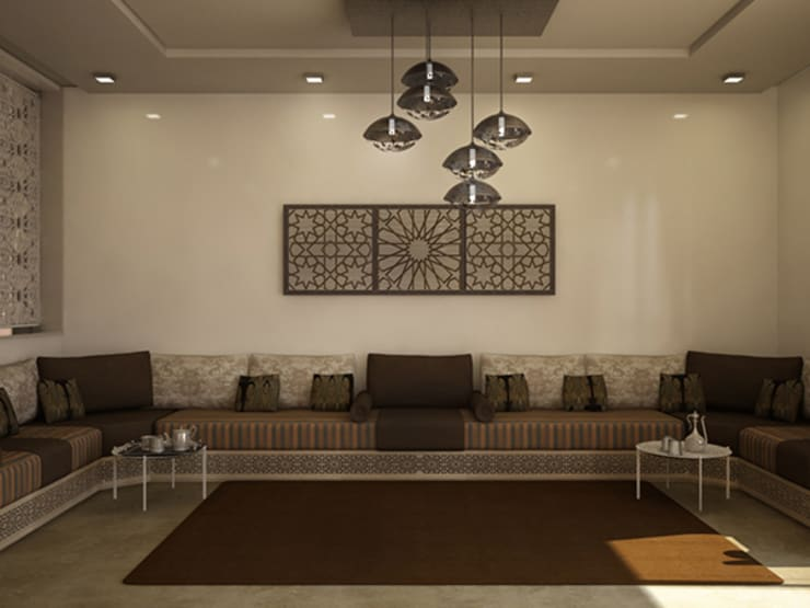 Moroccan design living room:  Living room by ARCHI-SERVICE