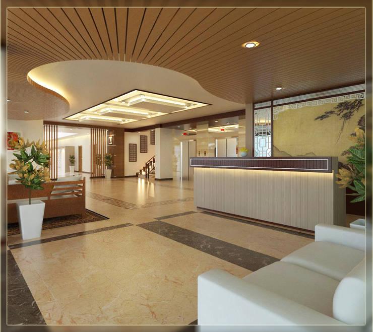 Hoteles de estilo  por Arsitekpedia, Rústico