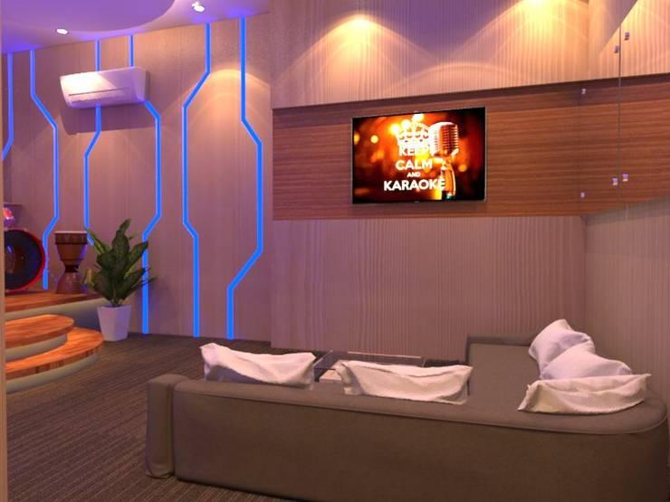Sala multimediale in stile  di Arsitekpedia,