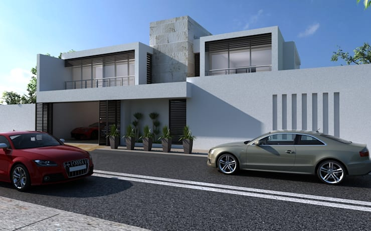 Residencia en Tijuana: Casas multifamiliares de estilo  por OLLIN ARQUITECTURA