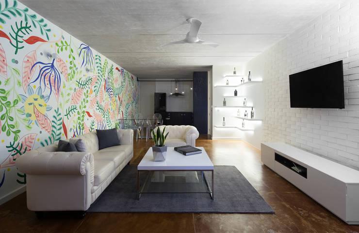 sala/comedor: Salas de estilo  por studio arquitectura | Despacho de arquitectos | Cancún