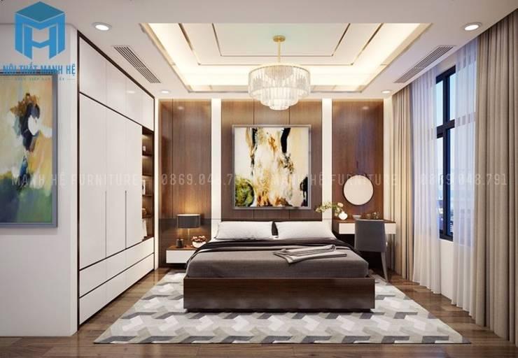Nội thất phòng ngủ cho con trai :  Phòng ngủ nhỏ by Công ty TNHH Nội Thất Mạnh Hệ