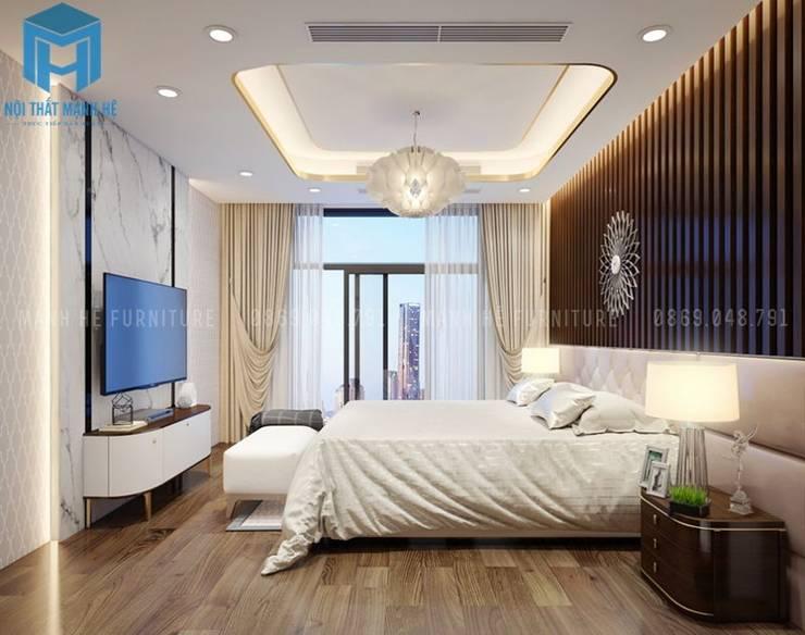 Không gian phòng ngủ master đẳng cấp:  Phòng ngủ by Công ty TNHH Nội Thất Mạnh Hệ