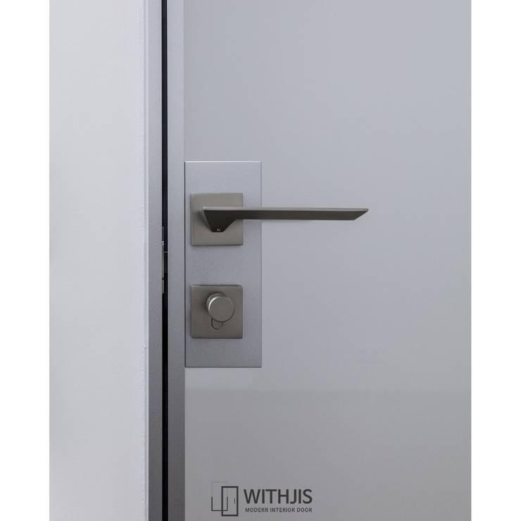 ALU-SW 편개스윙도어 핸들: WITHJIS(위드지스)의  서재 & 사무실,