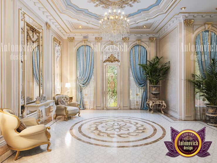 Neoclassical Living Room Interior by Luxury Antonovich Design