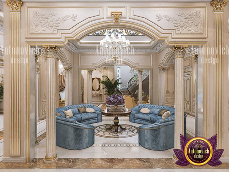 Neoclassical Living Room Interior:   by Luxury Antonovich Design,