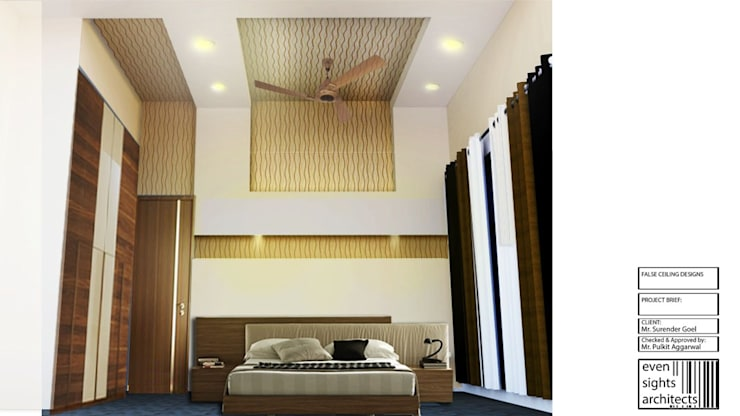 Interiors:  Bedroom by EVEN SIGHTS ARCHITECTS