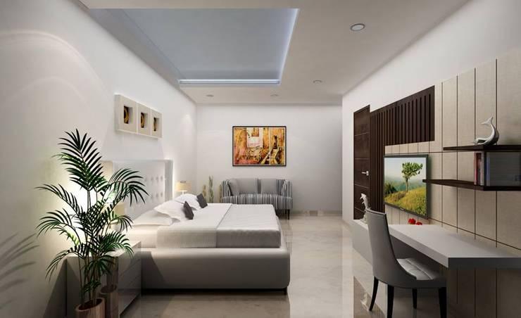 Salas / recibidores de estilo  por EVEN SIGHTS ARCHITECTS, Asiático