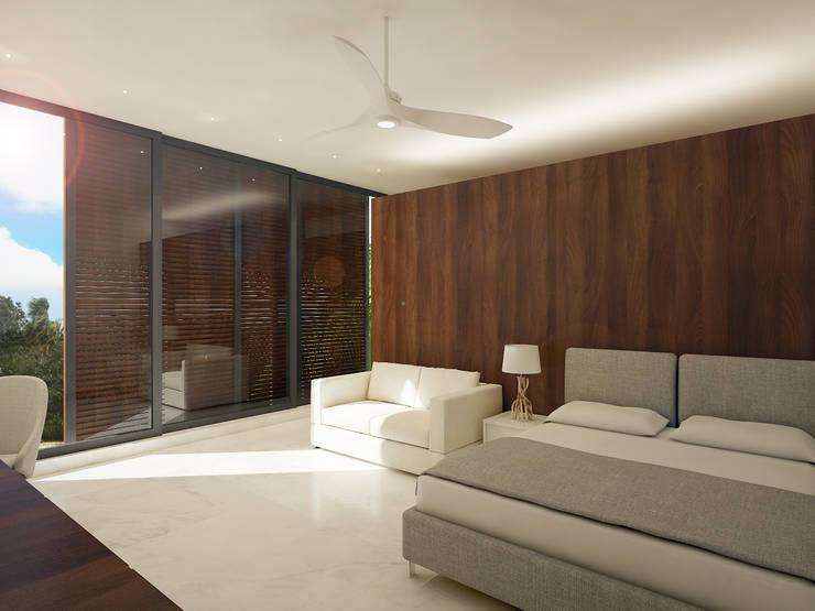 recamaras:  de estilo  por studio arquitectura | Despacho de arquitectos | Cancún