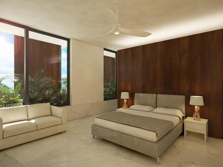 recamara de visitas:  de estilo  por studio arquitectura | Despacho de arquitectos | Cancún
