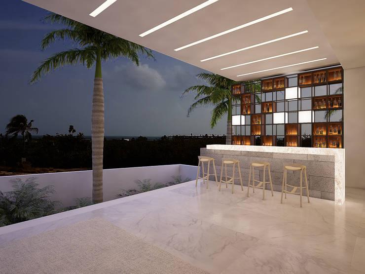 bar:  de estilo  por studio arquitectura | Despacho de arquitectos | Cancún
