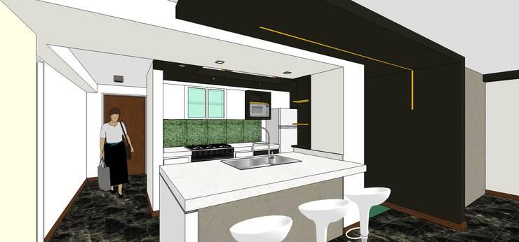 Proyecto: Cocinas equipadas de estilo  por MARATEA Estudio