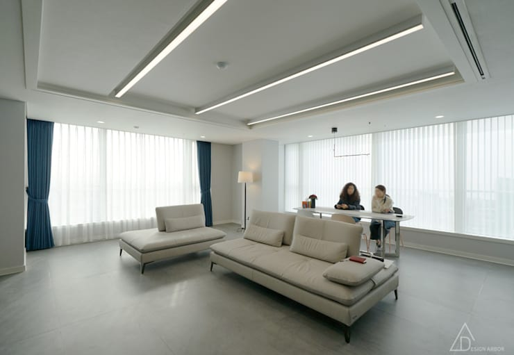 غرفة المعيشة تنفيذ 디자인 아버