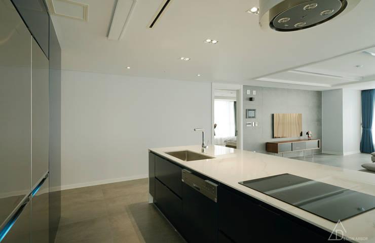 مطبخ تنفيذ 디자인 아버