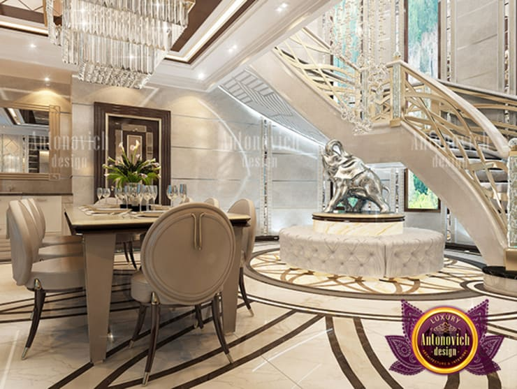 Superb and Magnificent Hall Interior Design:   by Luxury Antonovich Design