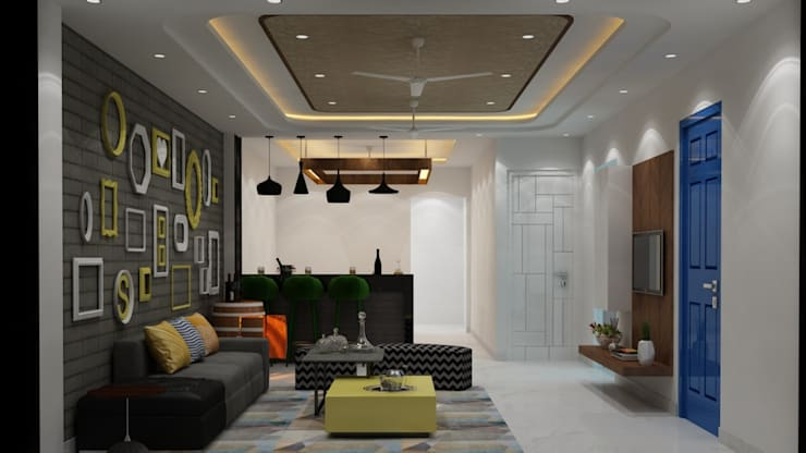 Residential Project:  Living room by MAG Consultancy
