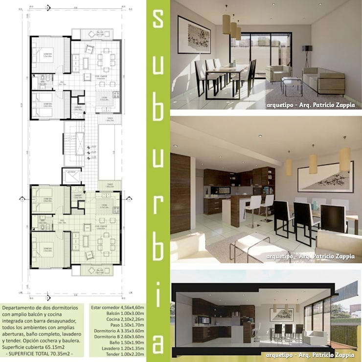 SUBURBIA viviendas de categoría:  de estilo  por arquetipo - Arq. Patricio Zappia
