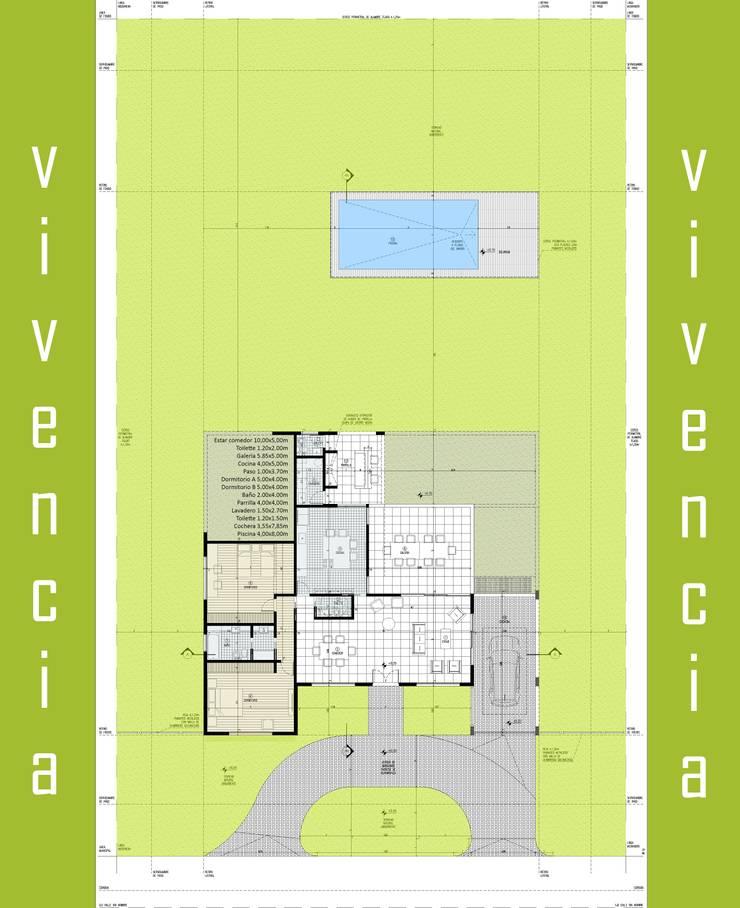 VIVENCIA vivienda premium:  de estilo  por arquetipo - Arq. Patricio Zappia