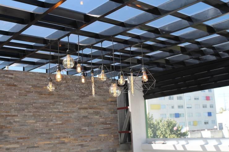 Terraza Napoles Balcones y terrazas modernos de F.arquitectos Moderno