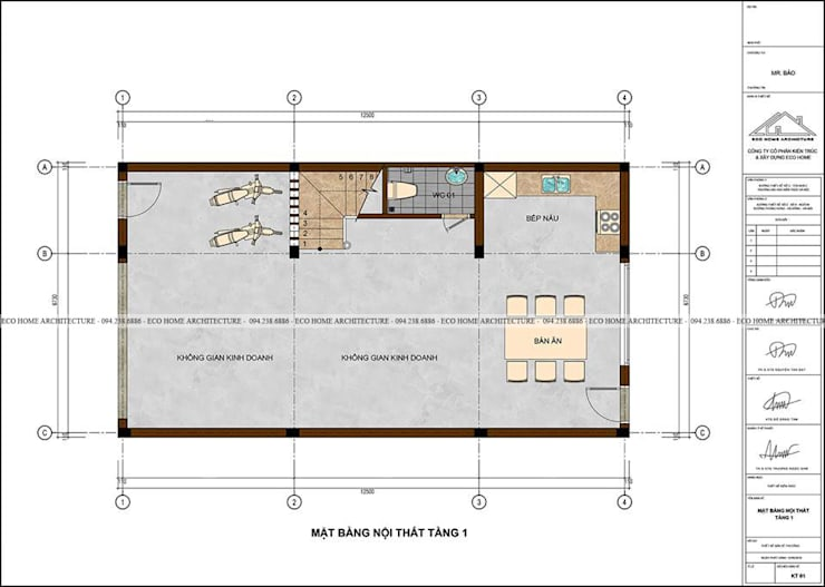 Mẫu thiết kế nhà phố tân cổ điển kết hợp kinh doanh:  Bathroom by Công ty CP kiến trúc và xây dựng Eco Home