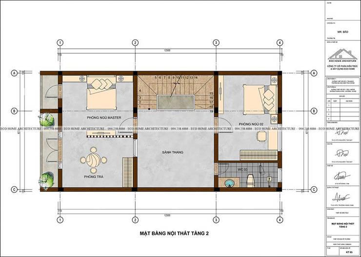 Mẫu thiết kế nhà phố tân cổ điển kết hợp kinh doanh:  Study/office by Công ty CP kiến trúc và xây dựng Eco Home