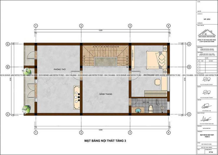 Mẫu thiết kế nhà phố tân cổ điển kết hợp kinh doanh:  Dining room by Công ty CP kiến trúc và xây dựng Eco Home