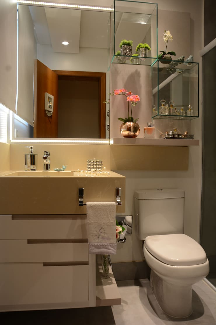 Casas de banho  por Graça Brenner Arquitetura e Interiores, Moderno MDF