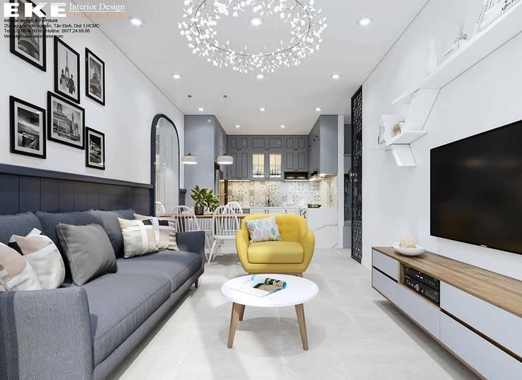 Phòng khách:   by EKE Interior