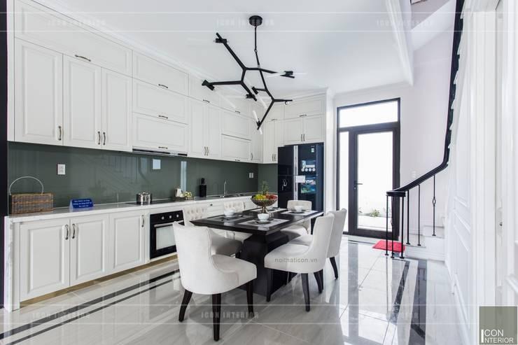 Thiết kế và thi công nội thất biệt thự Tân Cổ Điển sang trọng và đẳng cấp:  Phòng ăn by ICON INTERIOR