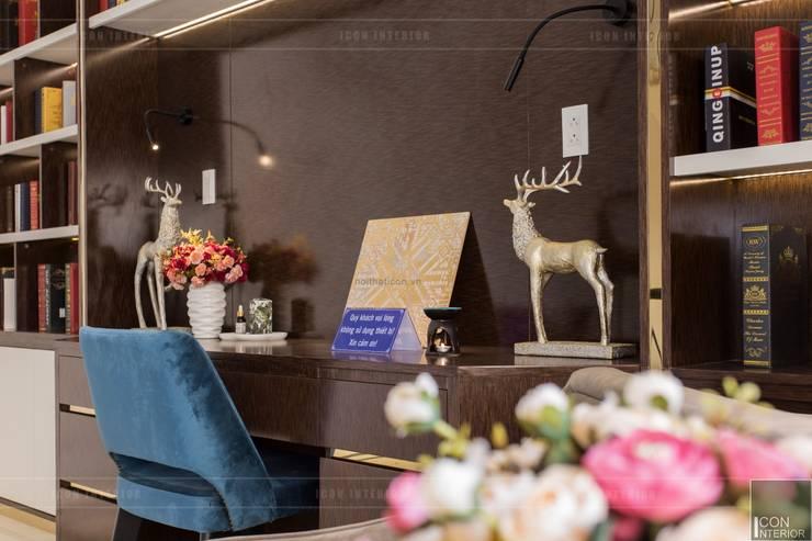 Thiết kế và thi công nội thất biệt thự Tân Cổ Điển sang trọng và đẳng cấp:  Phòng học/Văn phòng by ICON INTERIOR