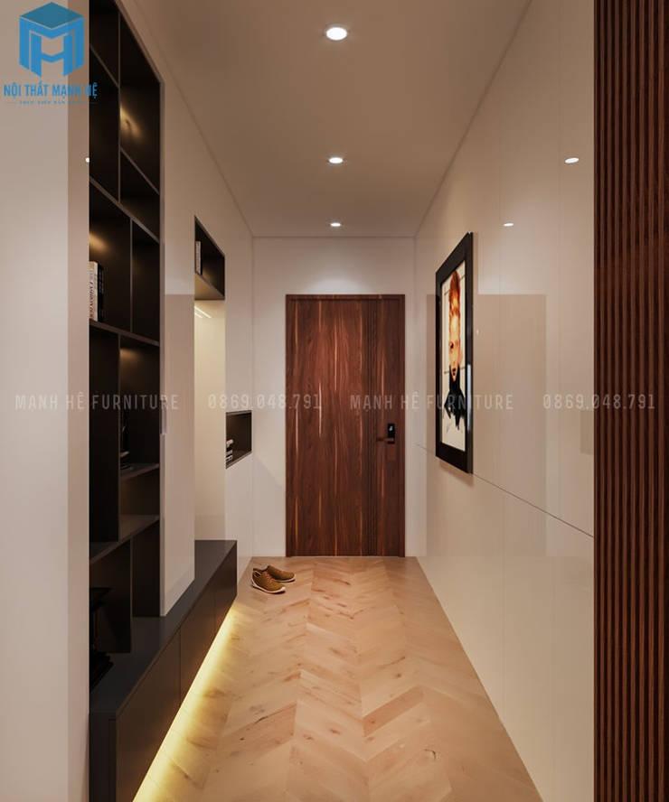 Hành lang nhỏ của căn hộ:  Hành lang by Công ty TNHH Nội Thất Mạnh Hệ